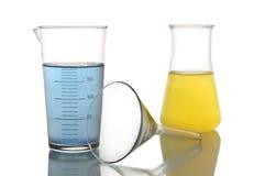 химические реторты стоковое фото