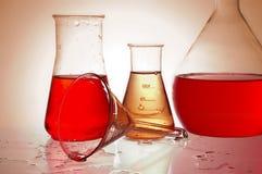 химические реторты стоковые изображения rf