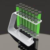 Химические установленные пробирки Стоковое фото RF
