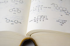 химические формулы Стоковая Фотография RF
