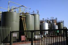 Химический завод фабрики Стоковые Изображения