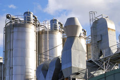 Химический завод Стоковое Изображение RF