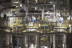 Химический завод в Польше Стоковые Изображения