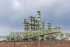 Химический завод в Франкфурте Стоковая Фотография
