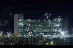 химический завод ночи Стоковые Фото