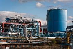 Химический завод обрабатывая фабрики Стоковое Изображение RF