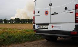 Химический пожар Стоковые Фотографии RF