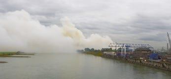Химический пожар Стоковое Фото