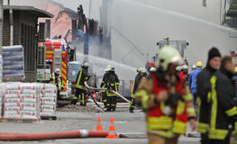 Химический пожар Стоковое Изображение