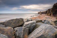 Химический пляж на Seaham Стоковое Изображение RF