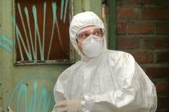 химический работник страха стоковые фотографии rf
