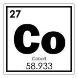 Химический элемент кобальта Стоковая Фотография
