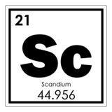 Химический элемент скандия Стоковое Изображение RF