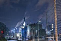 химическое масло фабрики Стоковое Фото
