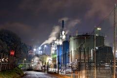 химическое масло фабрики Стоковая Фотография RF