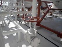 химическое масло фабрики Стоковая Фотография