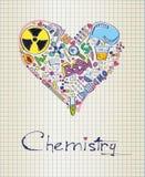 Химия в форме сердца иллюстрация штока