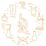 Химия научная, элементы образования Стоковое Изображение RF