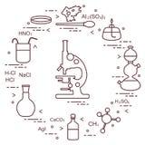 Химия научная, элементы образования Стоковое Изображение