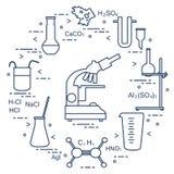 Химия научная, элементы образования Стоковая Фотография RF