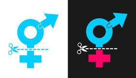 Хирургия переприсвоения Transsexuality и секса Стоковые Фото