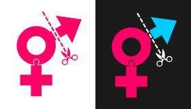 Хирургия переприсвоения Transsexuality и секса Стоковое Изображение