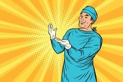 Хирург доктора после усмехаться хирургии иллюстрация штока
