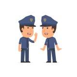 Хитро gossiping офицера характера и секрет говорить к его fr бесплатная иллюстрация
