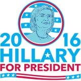 Хиллари Клинтон на президент 2016 иллюстрация вектора
