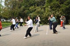 Хи в утре, Китай Tai стоковые фотографии rf