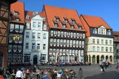 Хильдесхайм - исторический центр стоковые фото