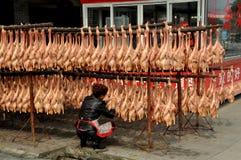 Хи Jiu, Китай: Высушенные отжатые утки Стоковые Фотографии RF
