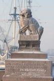 Хи Tsza (хи-za) - пара льва попечителя гранита мифологического стоковое фото