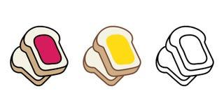 Хлебопекарня еды хлеба печет иллюстрацию персонажа из мультфильма варенья бесплатная иллюстрация