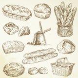 Хлебопекарня, хлеб, багет Стоковая Фотография