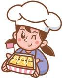 Хлебопек мультфильма стоковое фото