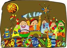 хлебоуборка празднества иллюстрация вектора