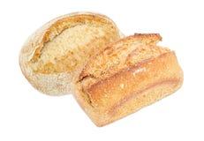 2 хлебца различного хлеба sourdough пшеницы Стоковое Фото