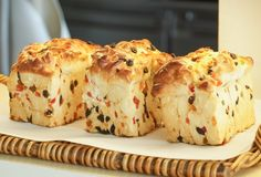3 хлебца хлеба плодоовощ Стоковое Фото