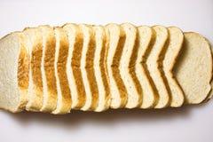 хлебы отрезали белизну Стоковые Изображения