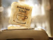 Хлеб здравицы скачет из тостера Стоковое Изображение RF