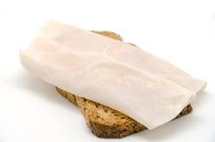Хлеб здравицы с ломтиком ветчины индюка стоковые изображения rf