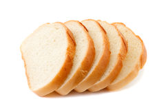 хлеб изолировал отрезанную белизну Стоковое Изображение RF