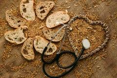 Хлеб клейковины свободный для людей которые получили аллергию Стоковые Фотографии RF