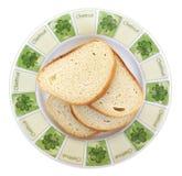 хлеб отрезает белизну Стоковые Фото