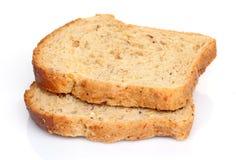 хлеб отрезает белизну Стоковые Изображения