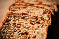 хлеб отрезал Стоковая Фотография