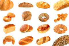 хлеб печатает различное на машинке Стоковые Изображения