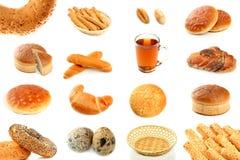 хлеб печатает различное на машинке стоковое фото