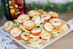 Хлеб donit закуски рождества с мясом и veggy стоковое изображение